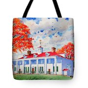 Mt. Vernon East Front In Fall Tote Bag