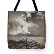 Mt. Vesuvius Erupting Tote Bag