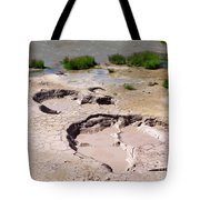 Mud Volcano Area In Yellowstone National Park Tote Bag