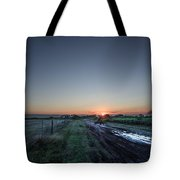 Muddy Road Sunrise II Tote Bag
