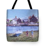 Mudeford Quay Christchurch From Hengistbury Head Tote Bag