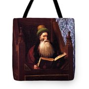 Mufti Reading In His Prayer Stool Tote Bag