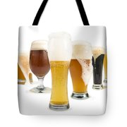 Mug Filled With Beer And Bottles Tote Bag by Deyan Georgiev