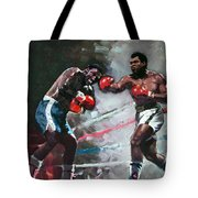 Muhammad Ali And Joe Frazier Tote Bag