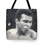 Muhammad Ali Butterfly Bee Mosaic Tote Bag by Paul Van Scott