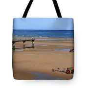 Mulberry Harbour, Omaha Beach, Normandy Tote Bag