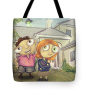 Mulder And Scully In Acadia Tote Bag