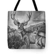 Mule Deer Heaven Tote Bag