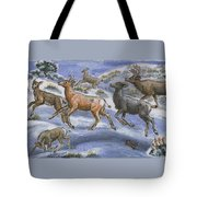 Mule Deer Surprise Tote Bag