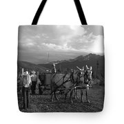 Mule Drawn Wagon Tote Bag