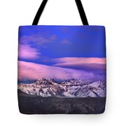 Mulhacen And Alcazaba At Sunset Tote Bag