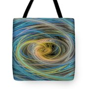 Multi Color Line Art Blue Yellow Gray Green Tote Bag