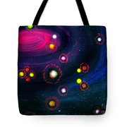 Multi-colored Constellation  Tote Bag