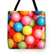 Multi Colored Gumballs. Sweets Background Tote Bag