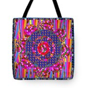 Multi Layered Colorful Flowers Christmas Wreath Style By Navinjoshi At Fineartamerica  Tote Bag