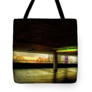 Multi-storey Sunset Tote Bag