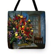 Multicolor Floral Arrangement Tote Bag