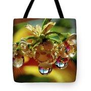 Multicolored Drops Tote Bag