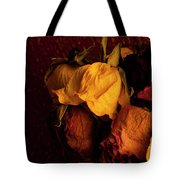 Multicolored Roses Wilting  Tote Bag