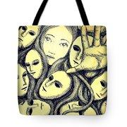 Multiple Personalities Tote Bag by Paulo Zerbato