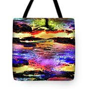 Multiple Underwater Sunsets Tote Bag