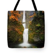 Multnomah Falls In Autumn Colors Tote Bag