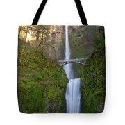Multnomah Falls In Oregon State. Tote Bag