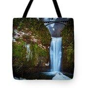 Multnomah Falls With Ice Tote Bag