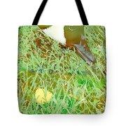 Munching On Green Grass Tote Bag