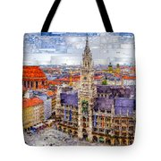 Munich Cityscape Tote Bag