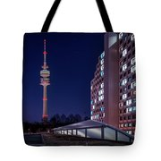 Munich - Olympictower And Village Tote Bag