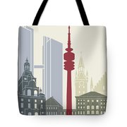 Munich Skyline Poster Tote Bag