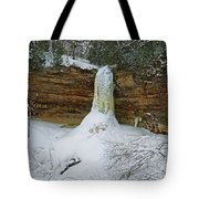 Munising Falls Frozen Tote Bag