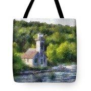 Munising Grand Island Lighthouse Upper Peninsula Michigan Pa 01 Tote Bag