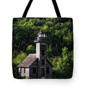 Munising Grand Island Lighthouse Upper Peninsula Michigan Vertical 02 Tote Bag