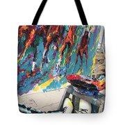 Mural Del Mar Race Track Tote Bag