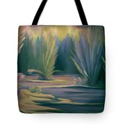 Mural Field Of Feathers Tote Bag