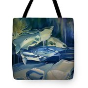 Mural Skulls Of Lifes Past Tote Bag