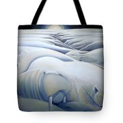 Mural  Winters Embracing Crevice Tote Bag