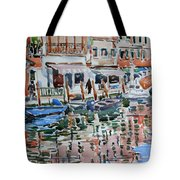 Murano Canal Tote Bag