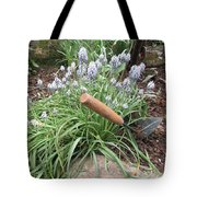 Muscari Blend Blue And White Tote Bag
