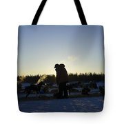 Mushers At Sunrise Tote Bag