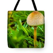 Mushroom And Grass Tote Bag