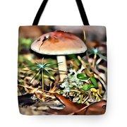 Mushroom And Moss Tote Bag