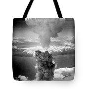 Mushroom Cloud Over Nagasaki  Tote Bag by War Is Hell Store