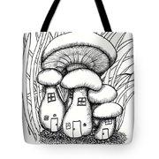 Mushroom Fairy Houses And Grass Tote Bag