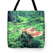 Mushroom In The Green Wood Tote Bag