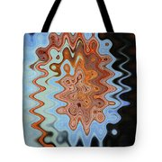 Mushroom In The Woods Abstract Tote Bag