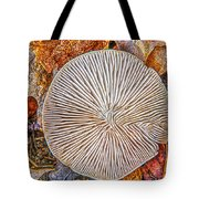 Mushroom On Fall Floor Tote Bag