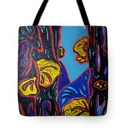 Mushroom On Trees Tote Bag